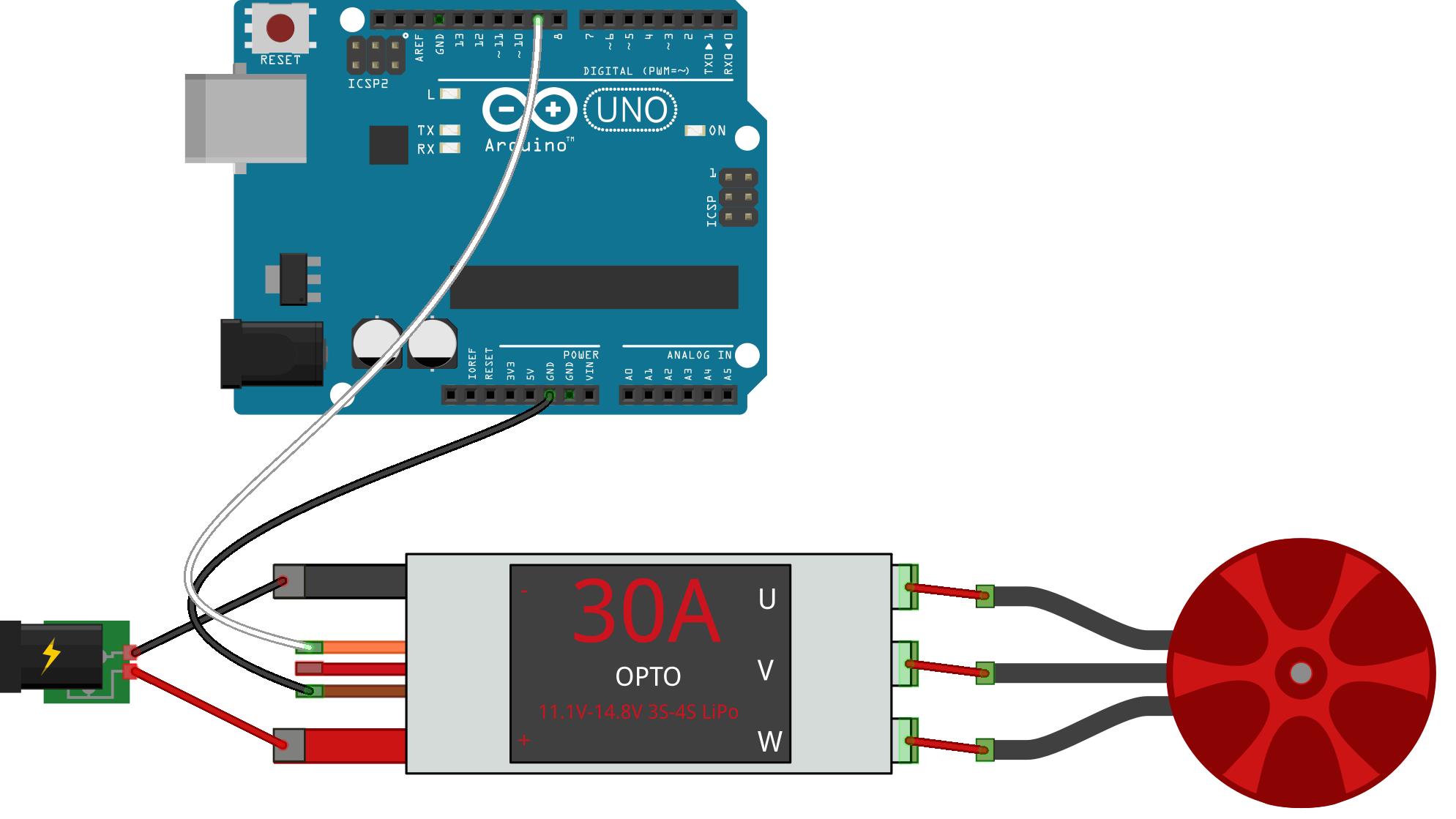 JavaScript Robotics: ESC - Keypress controlled ESCs with