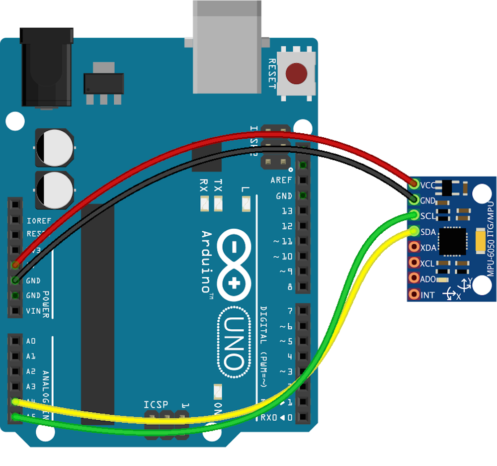 JavaScript Robotics: Gyro - I2C MPU6050 with Johnny-Five