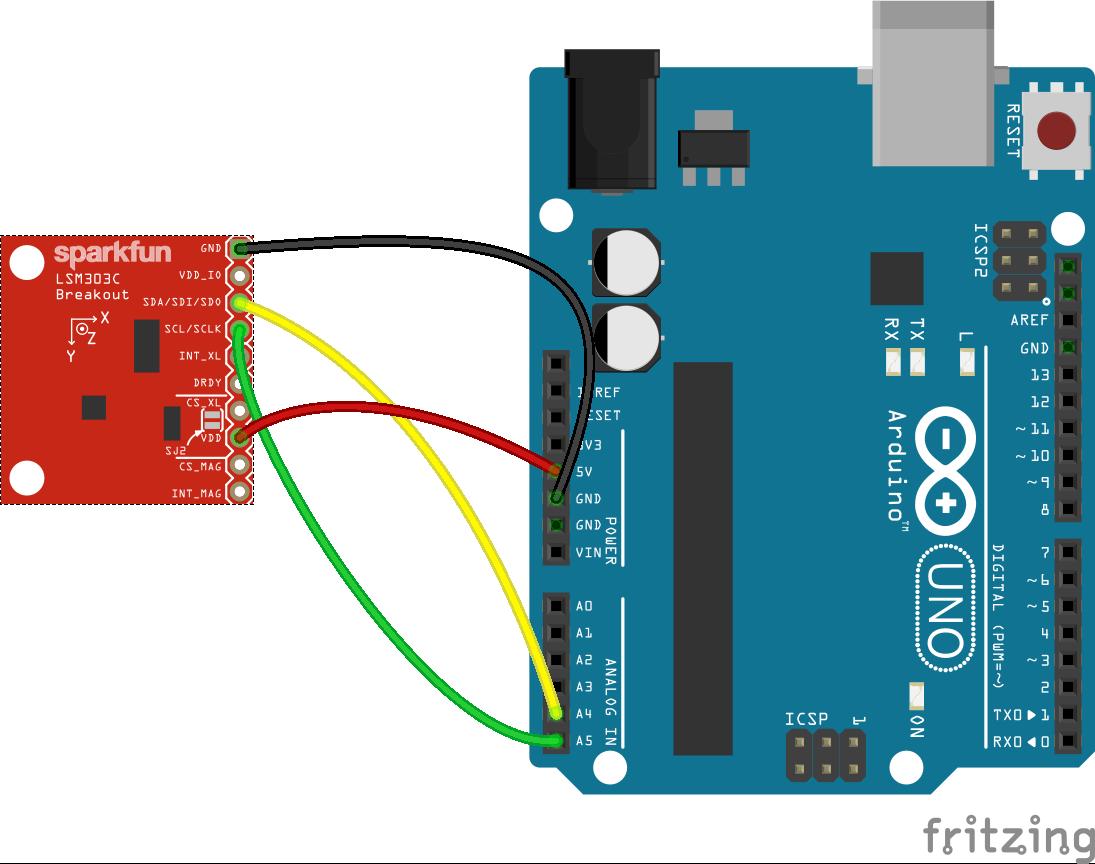 JavaScript Robotics: IMU - LSM303C with Johnny-Five
