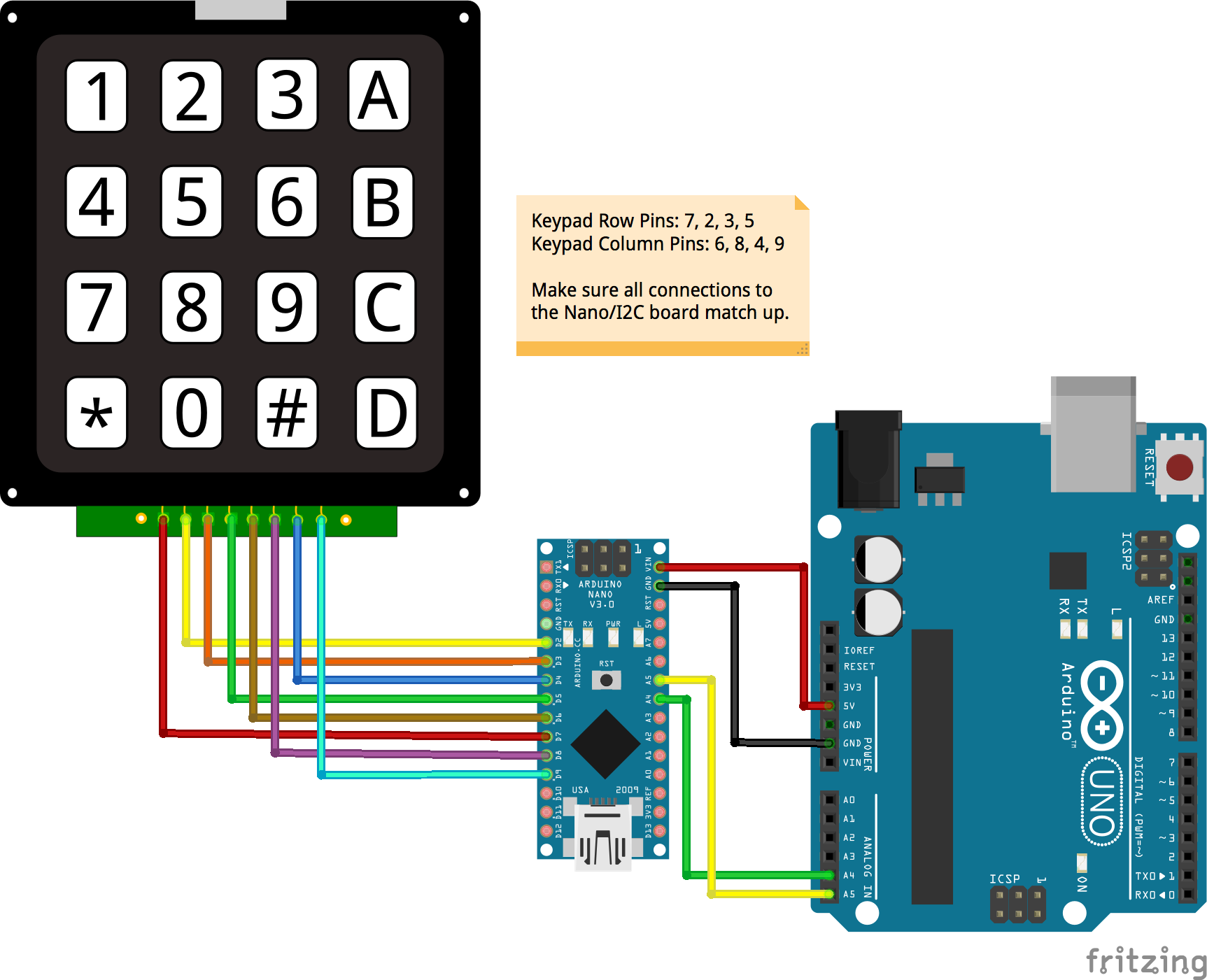 JavaScript Robotics: Keypad - 4x4 I2C Nano Backpack with Johnny-Five