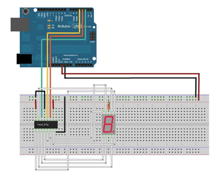 javascript robotics  shift register