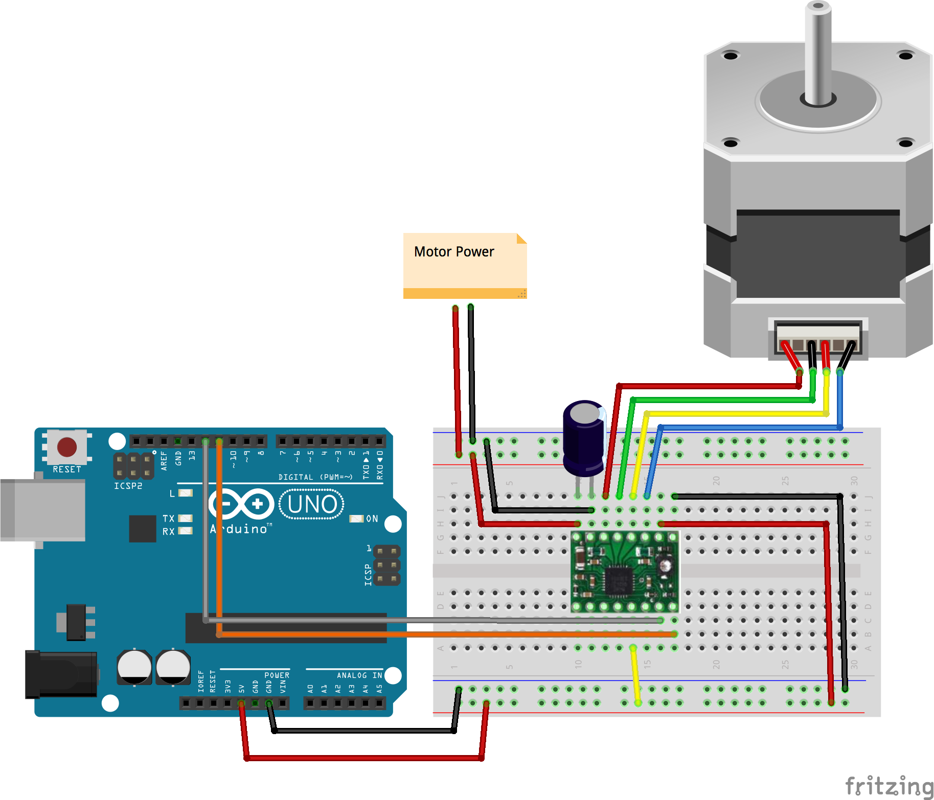 Javascript Robotics Stepper Driver With Johnny Five Motor Diagram